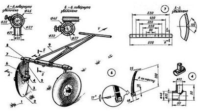 Дисковая модель окучника