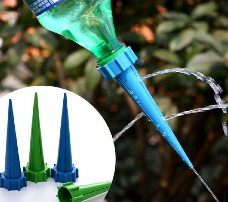 Насадка для полива из пластиковой бутылки