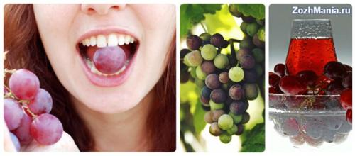 Красный виноград химический состав. Химический состав